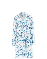 Белое платье-рубашка с принтом от Tufi Duek