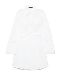 Белое платье-рубашка от Ellery