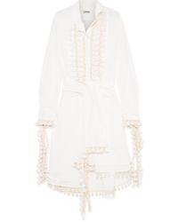 Белое платье-рубашка от Loewe