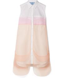 Белое платье-рубашка от Prada