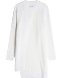 Белое платье-свитер