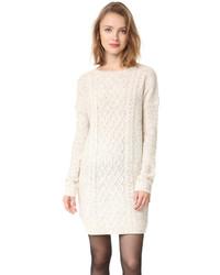 Белое платье-свитер от BB Dakota