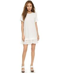 Женское белое платье-свитер от Clu