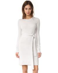 Женское белое платье-свитер от Club Monaco