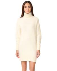 Женское белое платье-свитер от Demy Lee