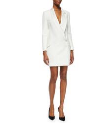 Белое платье-смокинг