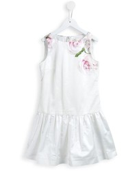 Детское белое платье с цветочным принтом для девочке от MonnaLisa