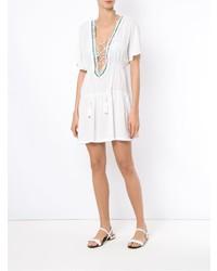 Белое пляжное платье от BRIGITTE