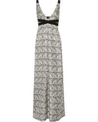 Белое шелковое платье-макси