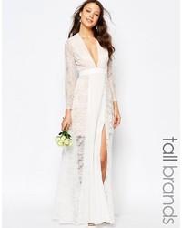 Женское белое шифоновое вечернее платье