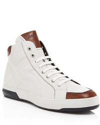 бело коричневые высокие кеды original 3811194
