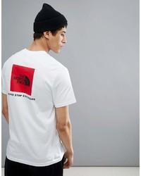 Мужская бело-красная футболка с круглым вырезом с принтом от The North Face