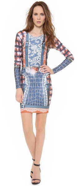 9f9c23a96920 35 249 руб., Женское бело-красно-синее облегающее платье с принтом от Emma  Cook