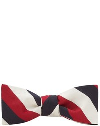 Бело-красно-синий галстук-бабочка