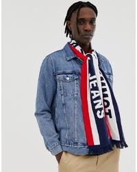 Мужской бело-красно-синий шарф от Tommy Jeans