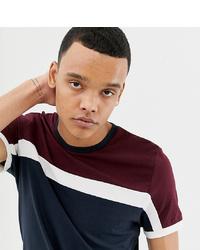 Мужская бело-красно-синяя футболка с круглым вырезом в горизонтальную полоску от ASOS DESIGN