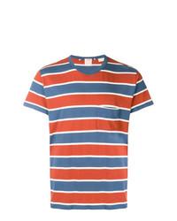 Мужская бело-красно-синяя футболка с круглым вырезом в горизонтальную полоску от Levi's Vintage Clothing
