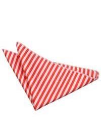 Бело-красный нагрудный платок в горизонтальную полоску