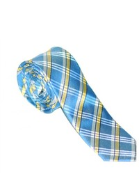 Бело-синий галстук в шотландскую клетку