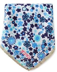 Бело-синий нагрудный платок с принтом от fe-fe