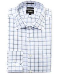 Бело-синяя классическая рубашка