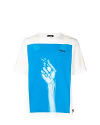 Мужская бело-синяя футболка с круглым вырезом с принтом от U.P.W.W.