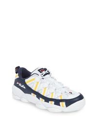 Бело-темно-синие кроссовки