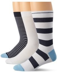 Бело-темно-синие носки