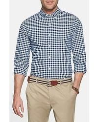 бело темно синяя рубашка с длинным рукавом original 2951619
