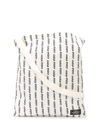 Мужская бело-черная большая сумка из плотной ткани с принтом от Neighborhood