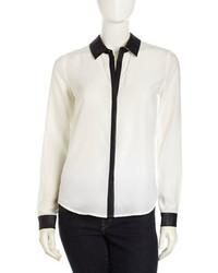 Бело-черная классическая рубашка