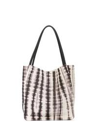 Бело-черная кожаная большая сумка от Proenza Schouler
