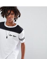 Мужская бело-черная футболка с круглым вырезом с принтом от Sacred Hawk