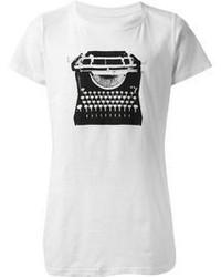 бело черная футболка с круглым вырезом original 3141645