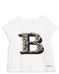 Бело-черная футболка с принтом