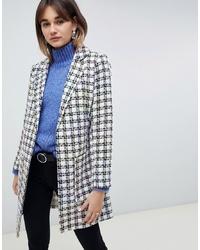 940ae1e35f8 Купить женское бело-черное пальто в интернет-магазине Asos - модные ...