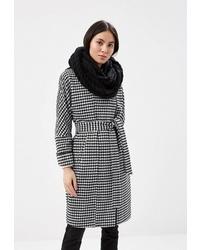 """Женское бело-черное пальто с узором """"гусиные лапки"""" от Electrastyle"""