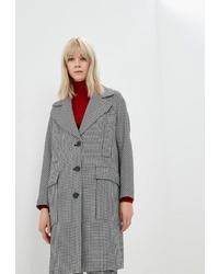 """Женское бело-черное пальто с узором """"гусиные лапки"""" от Max & Co."""