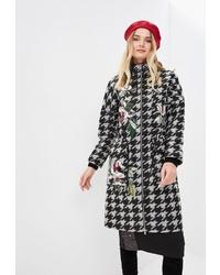 """Женское бело-черное пальто с узором """"гусиные лапки"""" от Yukostyle"""