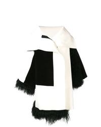 Женское бело-черное пальто от Gianluca Capannolo