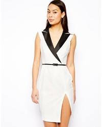 aff6b69fbfb7 Купить бело-черное платье-смокинг в интернет-магазине Asos - модные ...