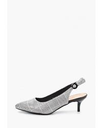 Бело-черные кожаные туфли в клетку от T.Taccardi