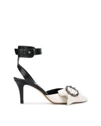 Бело-черные кожаные туфли от Isabel Marant
