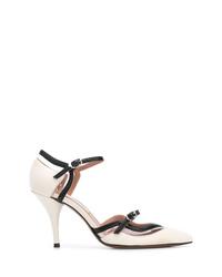 Бело-черные кожаные туфли от L'Autre Chose