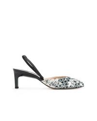 Бело-черные кожаные туфли от Paul Andrew