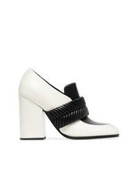 Бело-черные кожаные туфли от Proenza Schouler