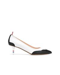 Бело-черные кожаные туфли от Thom Browne