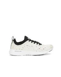 Женские бело-черные кроссовки от Apl
