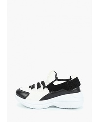 Женские бело-черные кроссовки от Catisa