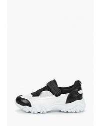 Женские бело-черные кроссовки от Chezoliny